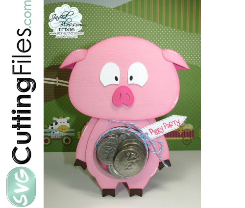 Pig Treat Cup Card