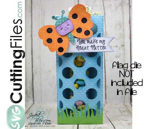 Polka Dot Butterfly Tube Holder