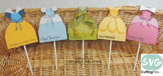 Princess Dress Lollipop Covers