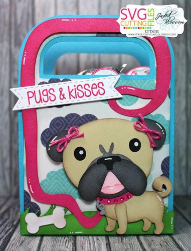 Pug Handled Bag