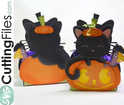 Cat Pumpkin Treat Box