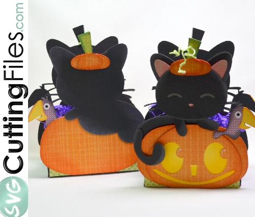 Cat Pumpkin Treat Box