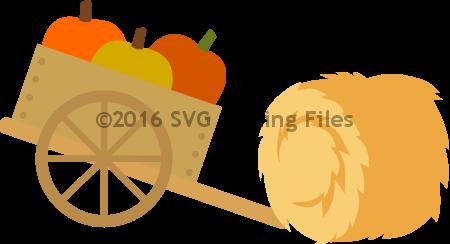 Pumpkin Wheelbarrow with Haystack