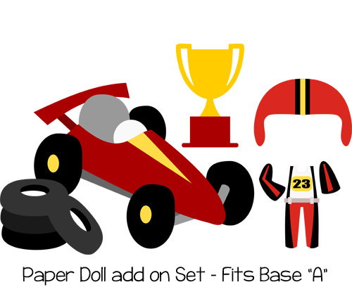 Paper Dolls Race Car Add On