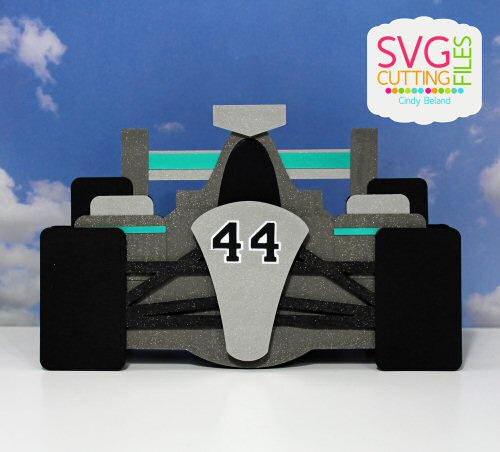 Race car Shaped Card