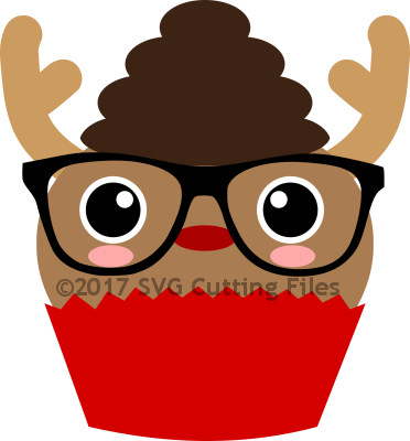 Christmas Reindeer Cupcake