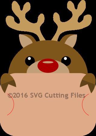 Reindeer Giftcard Peeker