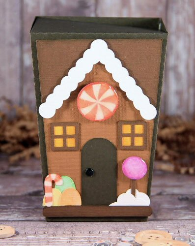 Gingerbread House Reverse Trapezoid Box