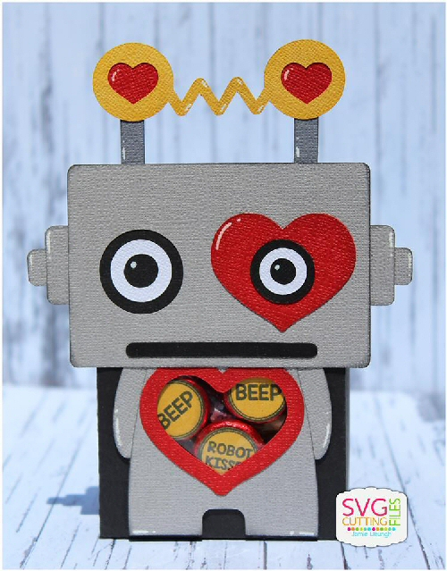 Robot Heart Belly Box