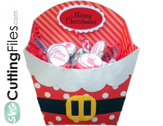 Santa Fry Box Container