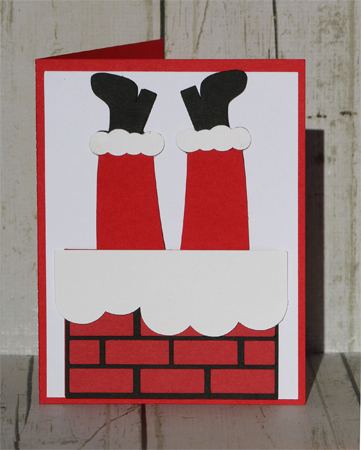 Santa Chimney Card Kit