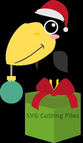Santa Crow Present