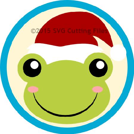 Santa Frog Head