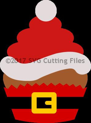 Christmas Santa Hat Outfit Cupcake