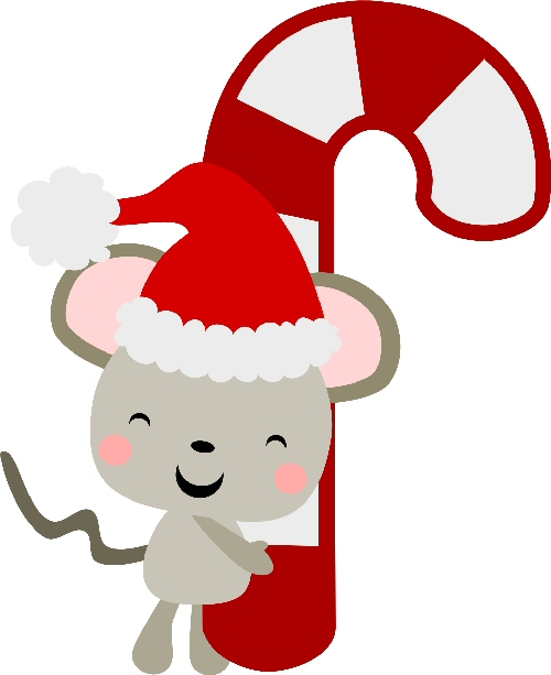 Santa Mouse Candy Cane
