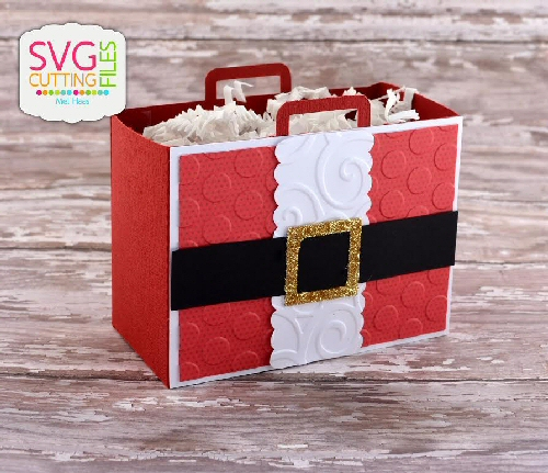 Santa Suitcase Bag Box