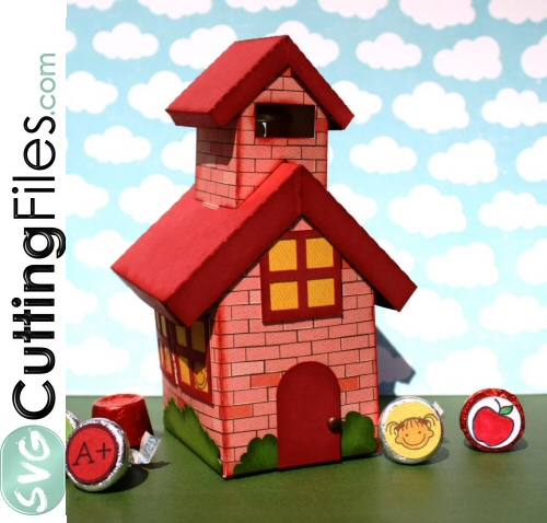 3d School House Treat Box