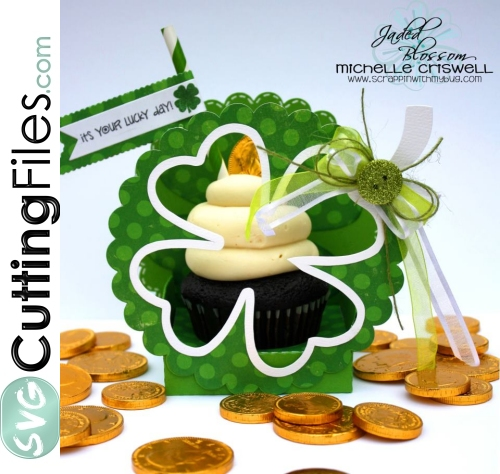 Shamrock Cupcake Box Holder