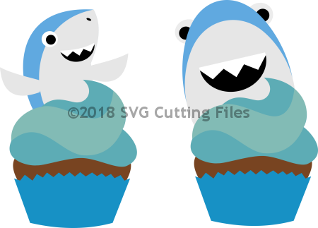 Sharks Cupcake