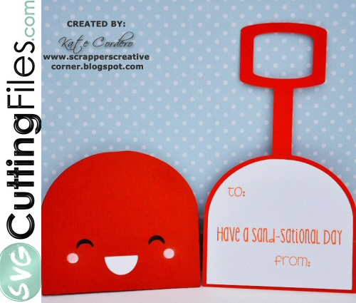 Kawaii Shovel Slider Card