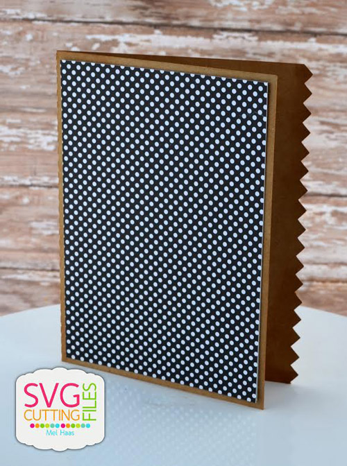 Side Cut Card - Small Zig Zag