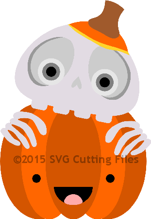 Skeleton Pumpkin Peeker
