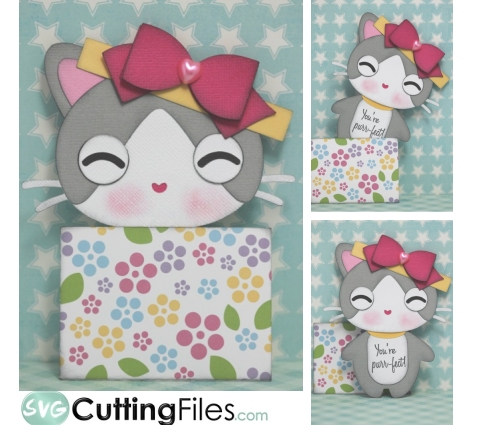 Present Box Kitty Slide Card