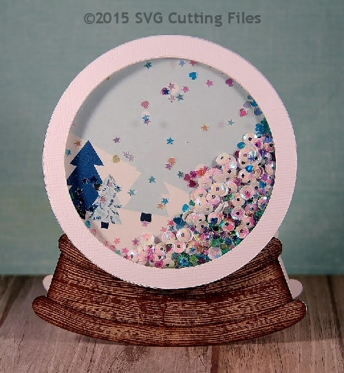 Snowglobe Shaped Card