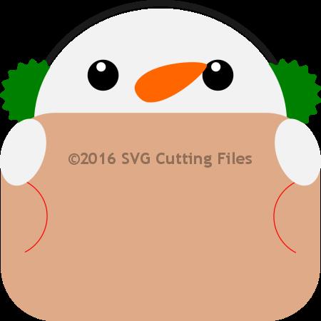 Snowman Ear Muff Giftcard Peeker