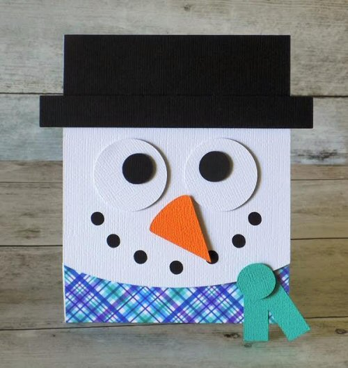 Snowman Flip Card