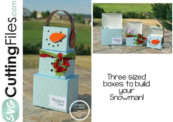 Snowman Trio Treat Box
