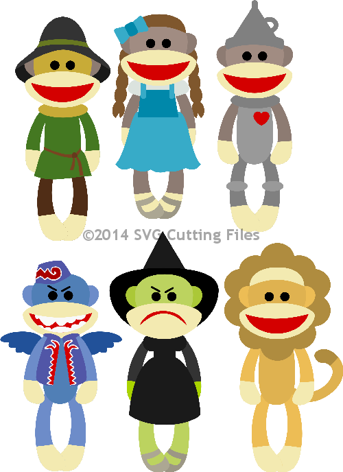 Sock Monkey Oz Set
