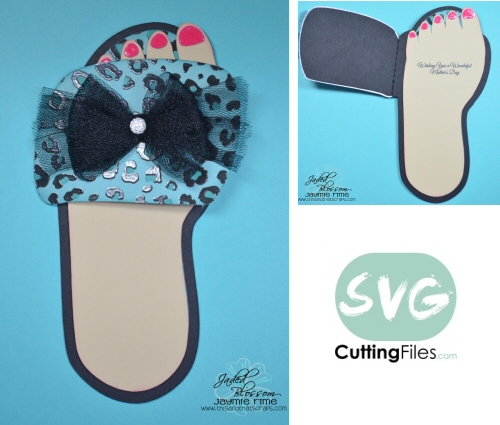 Spa Slipper Shaped Card
