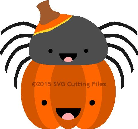 Spider Pumpkin Peeker