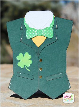 St Pat Vest Shaped Card