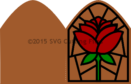 Stained Glass Rose Card kit