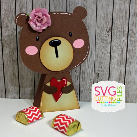 Bear Heart Standing Box