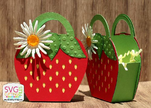 Strawberry Shaped Treat Box