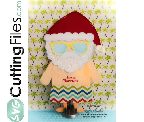 Summer Santa Slider Card