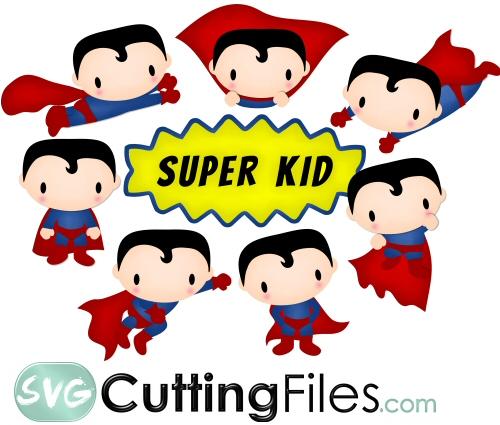 Super Boy Super Hero Svg Cutting File