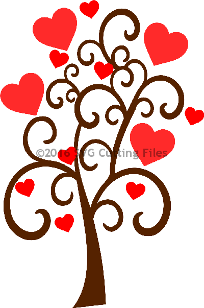 Swirl Heart Tree