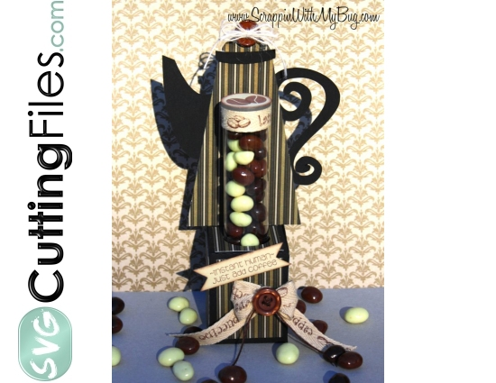 Coffee Teapot Candy Tube Holder