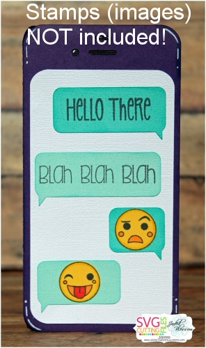Texting Shaped Phone Card