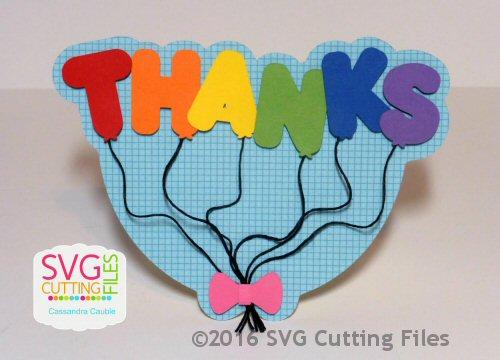 Thanks Balloon Shaped Card