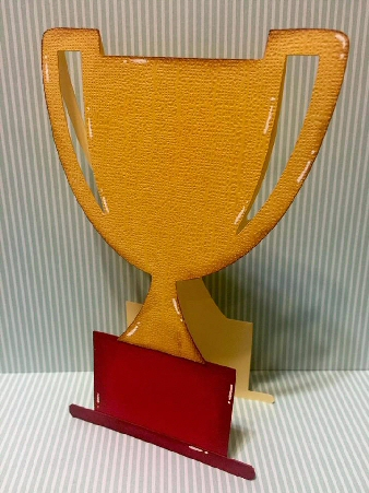 Trophy Shaped Card