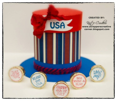 Uncle Sam Hat Container Box