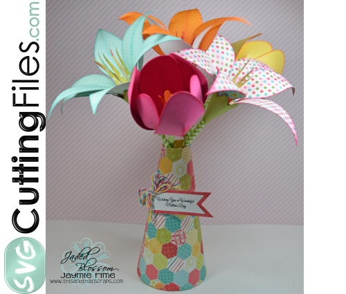 3d Vase of Lilies and Tulips
