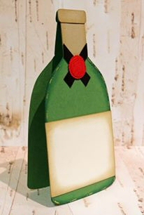 Wine Bottle Shaped Card