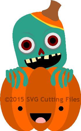 Zombie Pumpkin Peeker