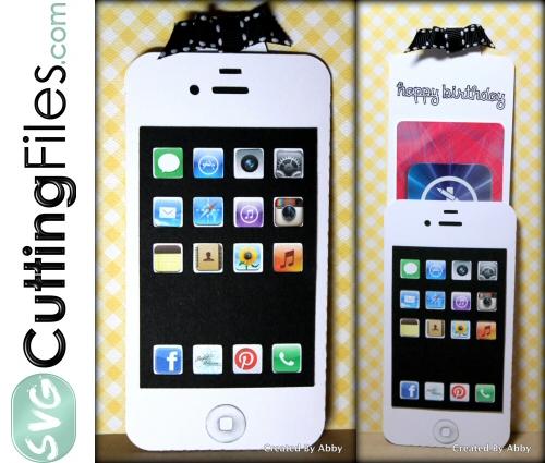 Smart Phone Slide Card Gift Card Holder